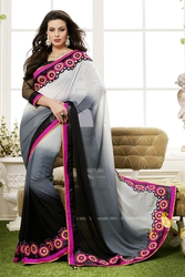 Pavitraa  The Black shaded saree with Resham work,  Zari,  Seqence work