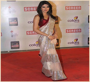 Priyanka Chopra Screen Awards Beige Replica Saree