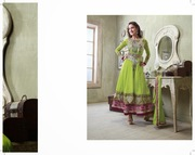 Astounding beauty can be acquired by Gauhar Khan Anarkali suit