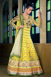Beautiful Yellow Bridal Salwar Suit