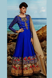 Stunning Blue Embroidery Salwar Suit