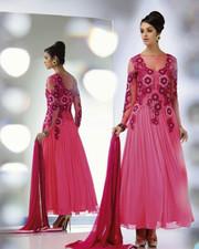 Pink color georgette party wear designer salwar suit