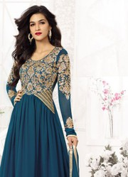 Rama Green Comfortable New Fancy Anarkali Suits just only on Rs.1499
