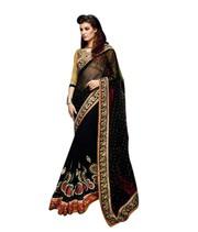 Jugniji Black Designer Saree