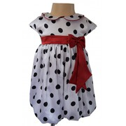Polka Dot Black & White Spotted Bubble Dress Special for Party Occasio