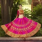Gleaming Pink Silk Designer Lehenga Choli