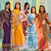 Teleshop.in: Net Sarees Daily/Party/Ethnic Wear: Women Clothing