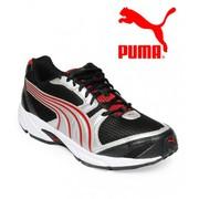 Puma Aquil Ind Black & Cobalt red Running Shoes for Men