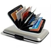 Aluminium Case Credit Card Holder Metal Wallet Slim Size in Silver