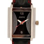 Adine Black Rectangular Quartz movement Dial Watch