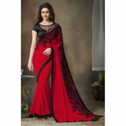 Red Casual Wear Saree @ 60% Off