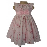 Rose Printed Cotton Dress Made By Faye