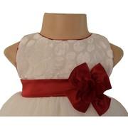 Ivory Polka Dress For baby Girls