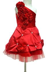 Kids One Shoulder Christmas Party Dress - Flower Girl Frocks
