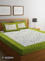King size cotton bedsheet with 2 pillow cover