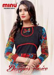 Best Cotton Satin Solid Color Fashionable Kurti wholesaler & supplier