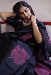 Plain and Borderless Silk Sarees For Pre Wedding Functions