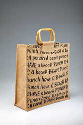 Finest Quality Jute Beach Bags with cane handle manufacturer,  exporter
