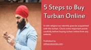 5 Steps to Buy Turban Online